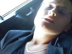 Car, Masturbation, Sister jerks off brother in car, Xhamster.com