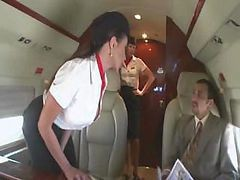Bus, Stewardess, Asian stewardess banging the captain, Drtuber.com