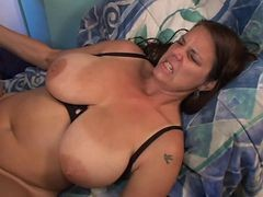 Natural, Her huge natural tits are what got him going, Xhamster.com