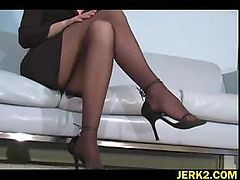Office, Stockings, Milf stockings boy, Drtuber.com