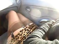 Car, Stockings, Car show, Xhamster.com