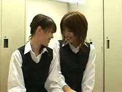 Asian, Japanese, Babe, Kissing, Lesbians in uniform, Xhamster.com