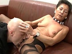 Granny, Hairy, Black, German, Homemade threesome, Xhamster.com