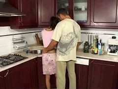 Anal, Kitchen, Son fucking mother in kitchen, Xhamster.com