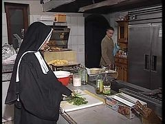 Nun, Kitchen, German, Ass, Mom and sin in kitchen, Xhamster.com