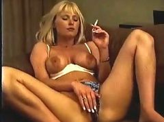 Blonde, Smoking, Masturbation, Cbt smoking, Xhamster.com