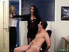 Office, Cfnm, Mom anal helps a hand, Nuvid.com