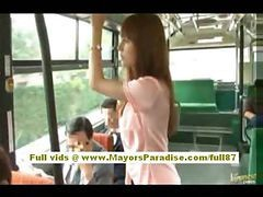 Asian, Bus, Hairy, Babe, Seducing bus, Drtuber.com