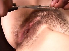 Bus, Hairy, Shaving, Hairy pussy shaving, Tube8.com