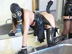 Latex, Faustfick, Anal fisting latex, Xhamster.com
