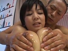 Asian, Oil, Creampie, Spandex and oil, Gotporn.com