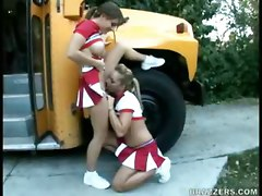 Bus, Cheerleader, Cheerleader teen, Pornhub.com