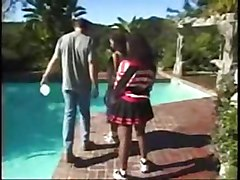 Ebony, Ffm, Cheerleader, Cheerleader fucked, Xhamster.com